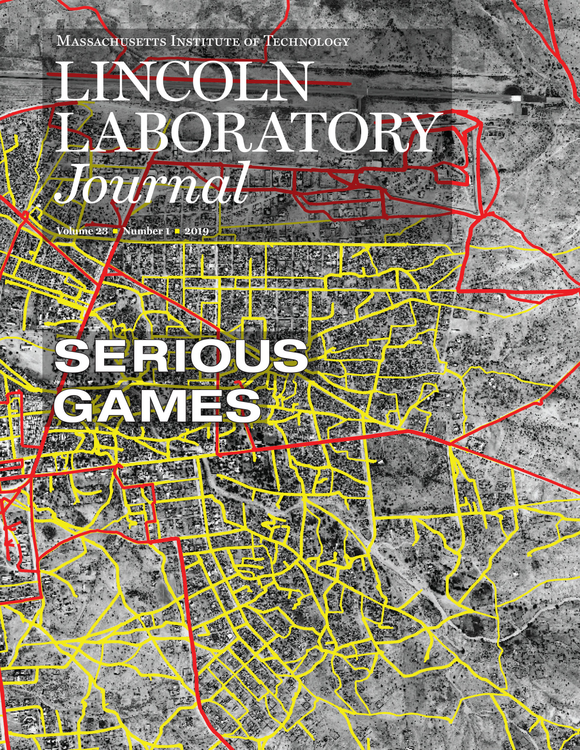 Lincoln Laboratory Journal Cover Volume 23, Number 1 - Serious Games
