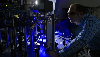 Researchers at Lincoln Laboratory are studying methods to use trapped ions for large-scale quantum information processing.