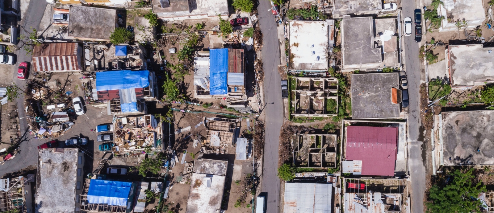Hurricane damage in Puerto Rico from Hurricane Maria
