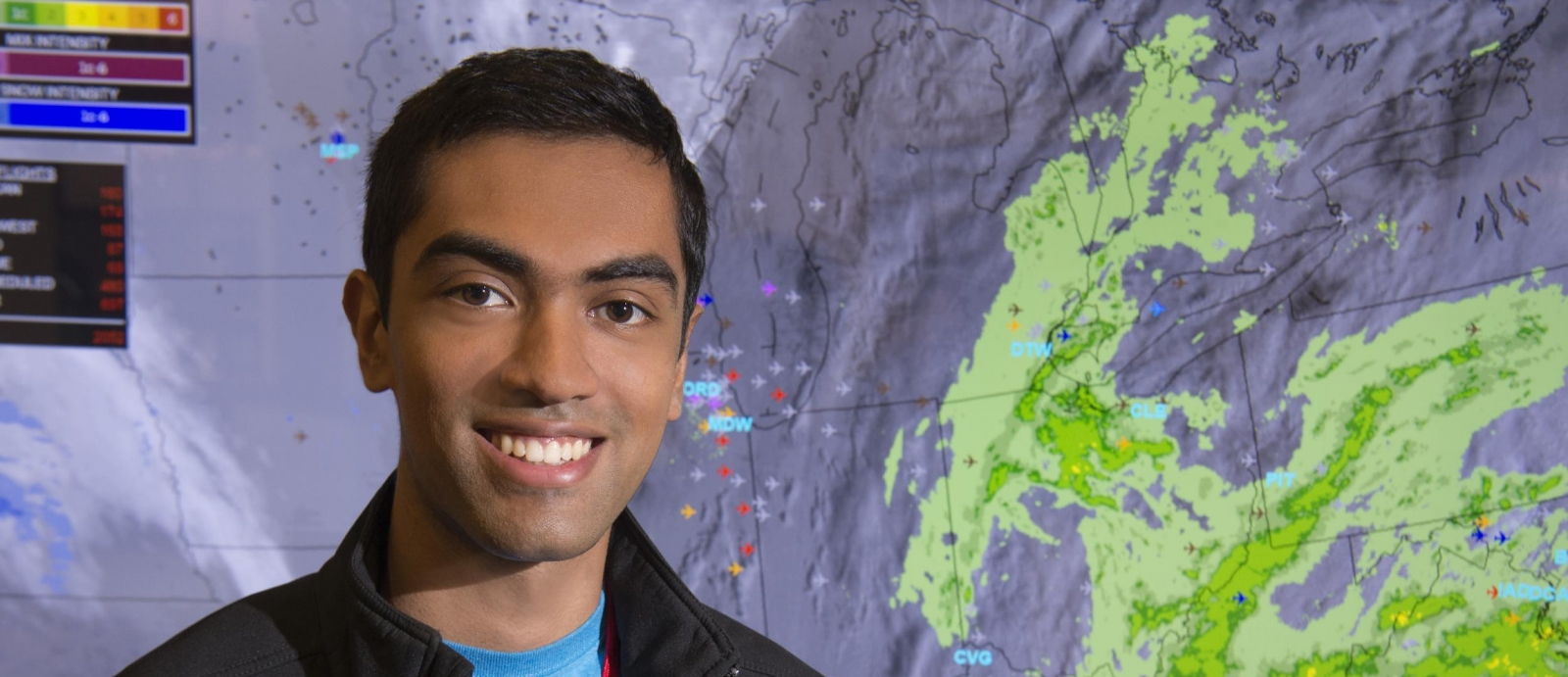 MIT student Vivek Miglani worked on a project that simulates weather radar images for air traffic controllers, modifying the team's existing neural network model and running experiments to identify possible improvements.