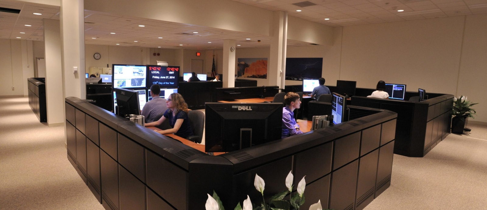 Staff in the Lexington Command, Control, and Communication Test Bed develop and test software tools.