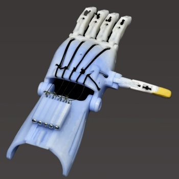 The 3D printed hand above was manufactured in TOIL.