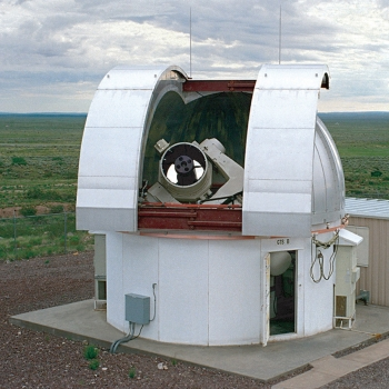 One of the ground-based electro-optical deep-space surveillance sensors at the Experimental Test Site.