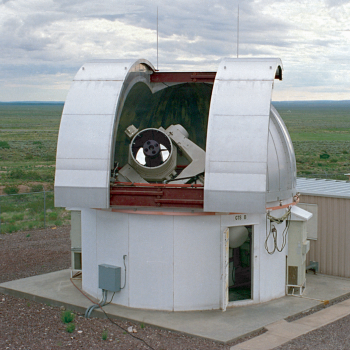 A GEODSS test system at the Experimental Test Site.