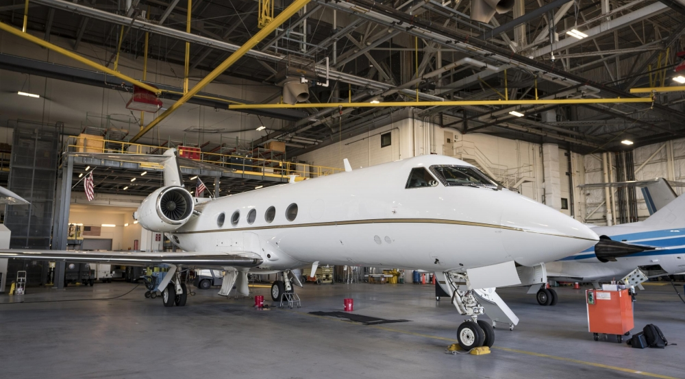 The Gulfstream IV is the latest addition to the Flight Test Facility fleet.
