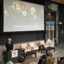 "MIT President L. Rafael Reif welcomes family, colleagues, friends, former students, and other associates of the late MIT Institute Professor Mildred ""Millie"" Dresselhaus to a symposium celebrating her life and career."
