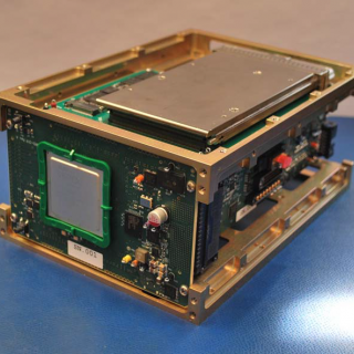 This is a photo of a CubeSatpayload application of the TBIRD technology.