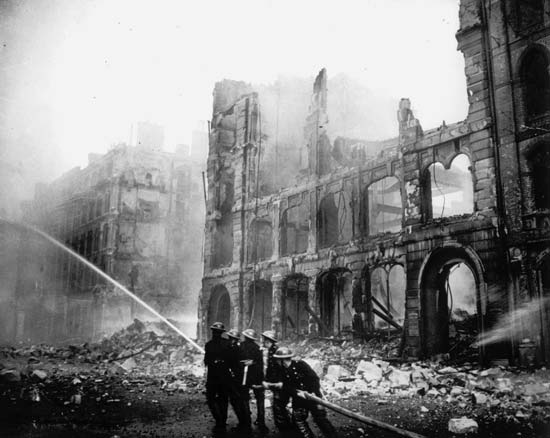 Damage to London