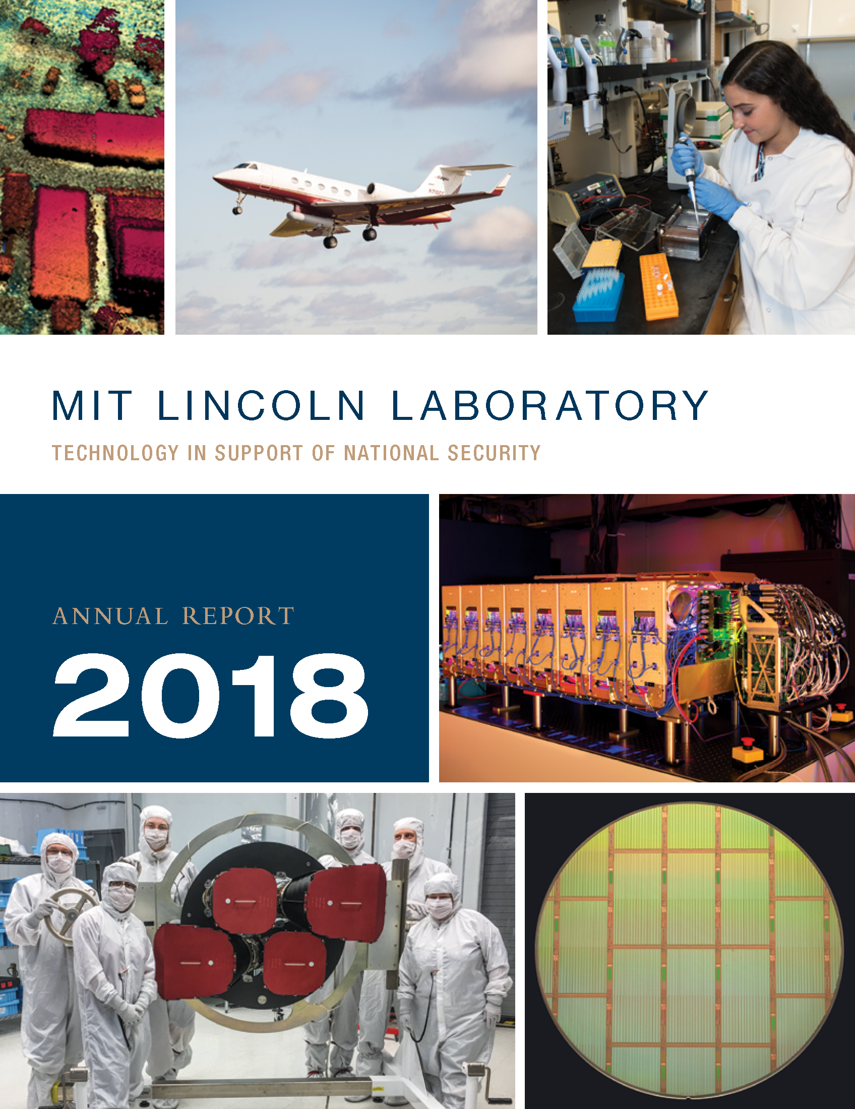 Cover of the 2018 MIT Lincoln Laboratory Annual Report