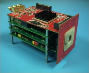The micro-ladar uses a field-programmable gate array onboard processor, above, and a commercial laser.