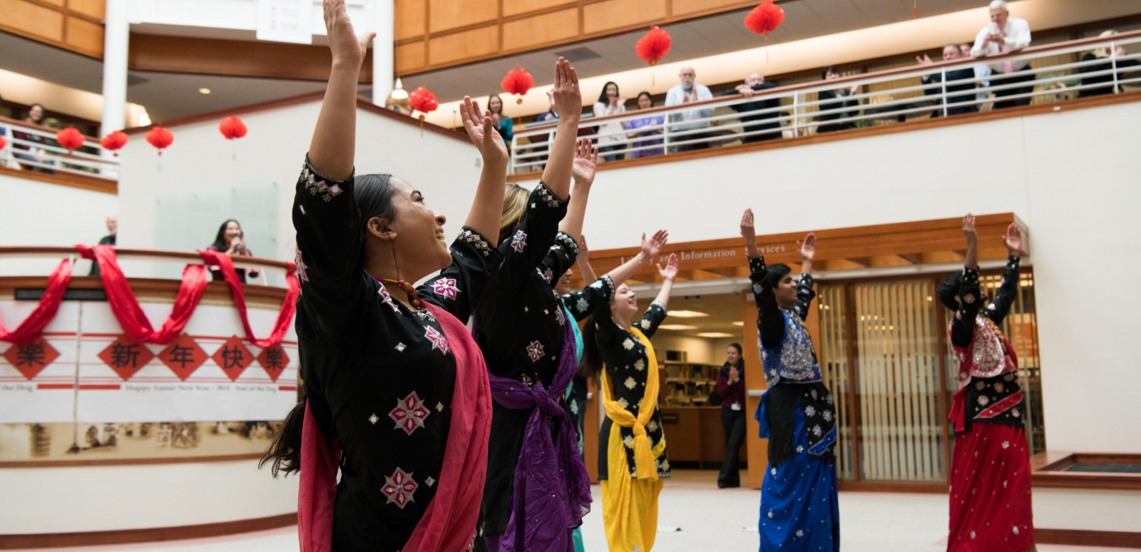 The MIT Bhangra dance group performs during the Laboratory's Lunar New Year celebration