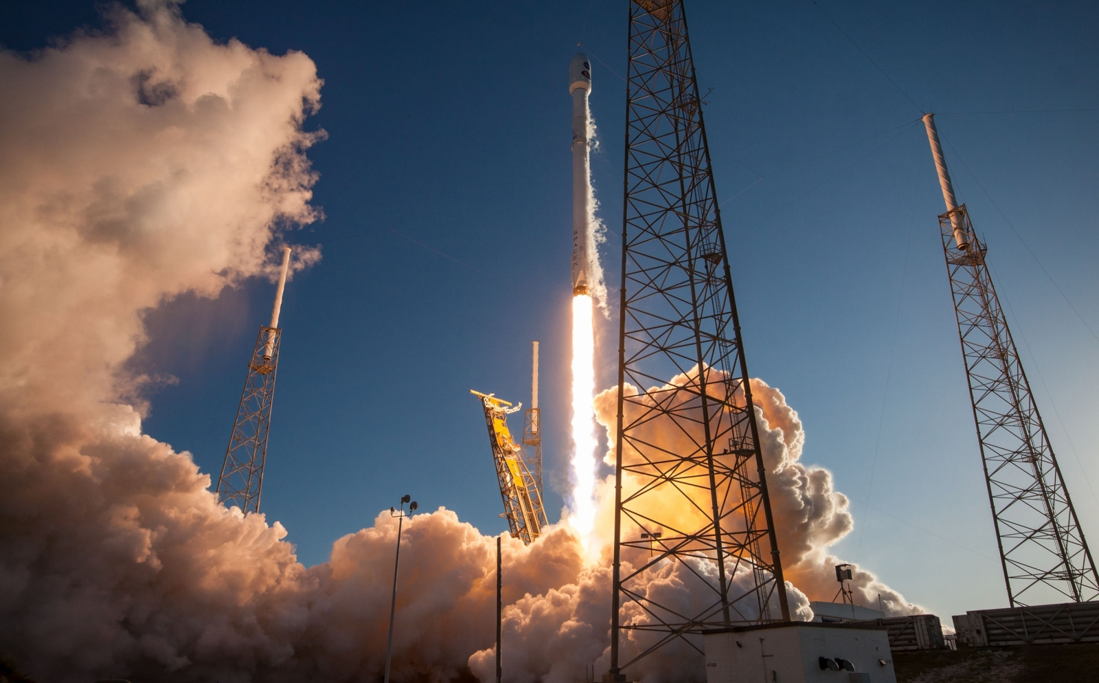 TESS is a NASA-funded mission developed collaboratively with the NASA Goddard Space Flight Center—it launched on April 18 carrying four cameras designed by the Laboratory. The satellite's mission is to search for exoplanets. Photo: SpaceX