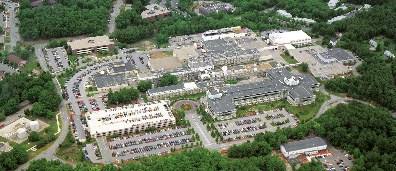 The Lincoln Laboratory main campus in Lexington, Massachusetts, comprises 17 buildings.