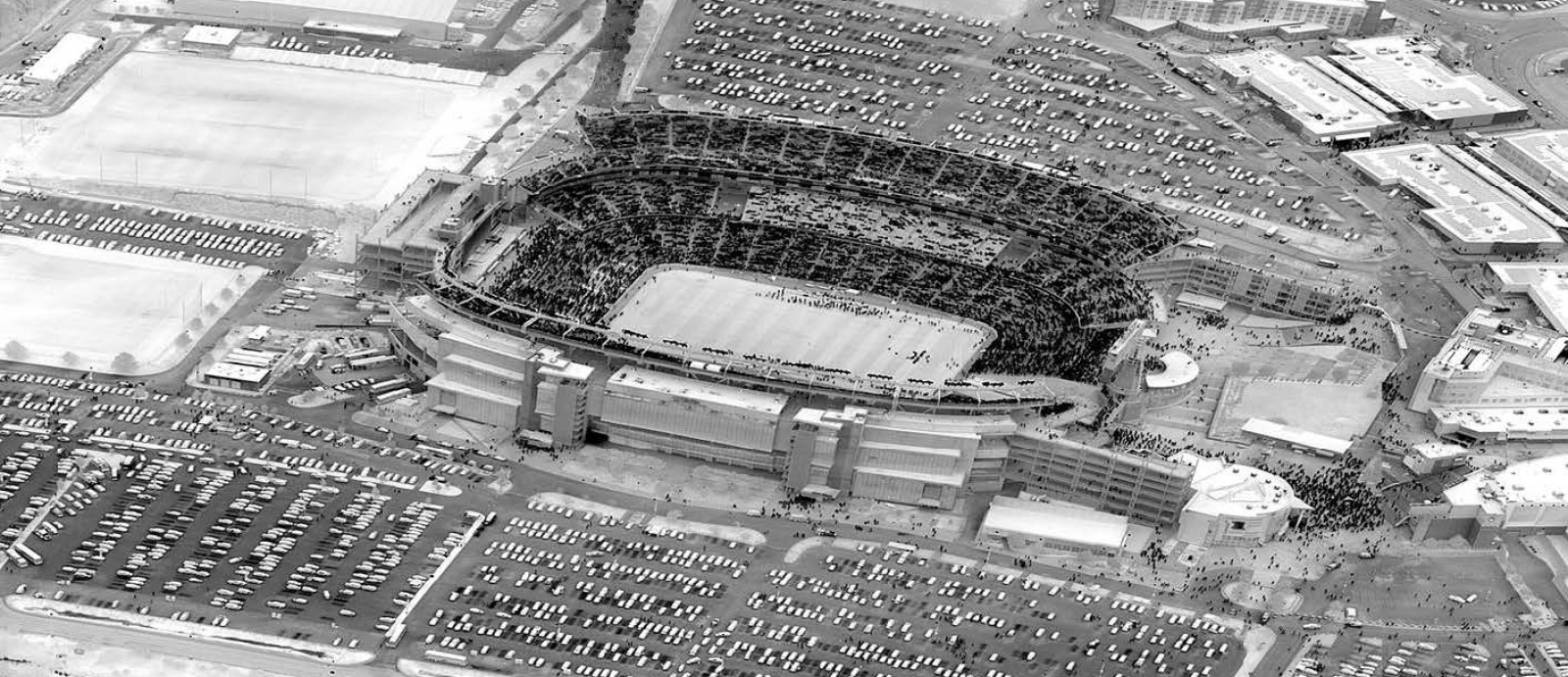 Wide-area infrared imagery of Gillette Stadium taken with the digital-focal-plane-array camera.
