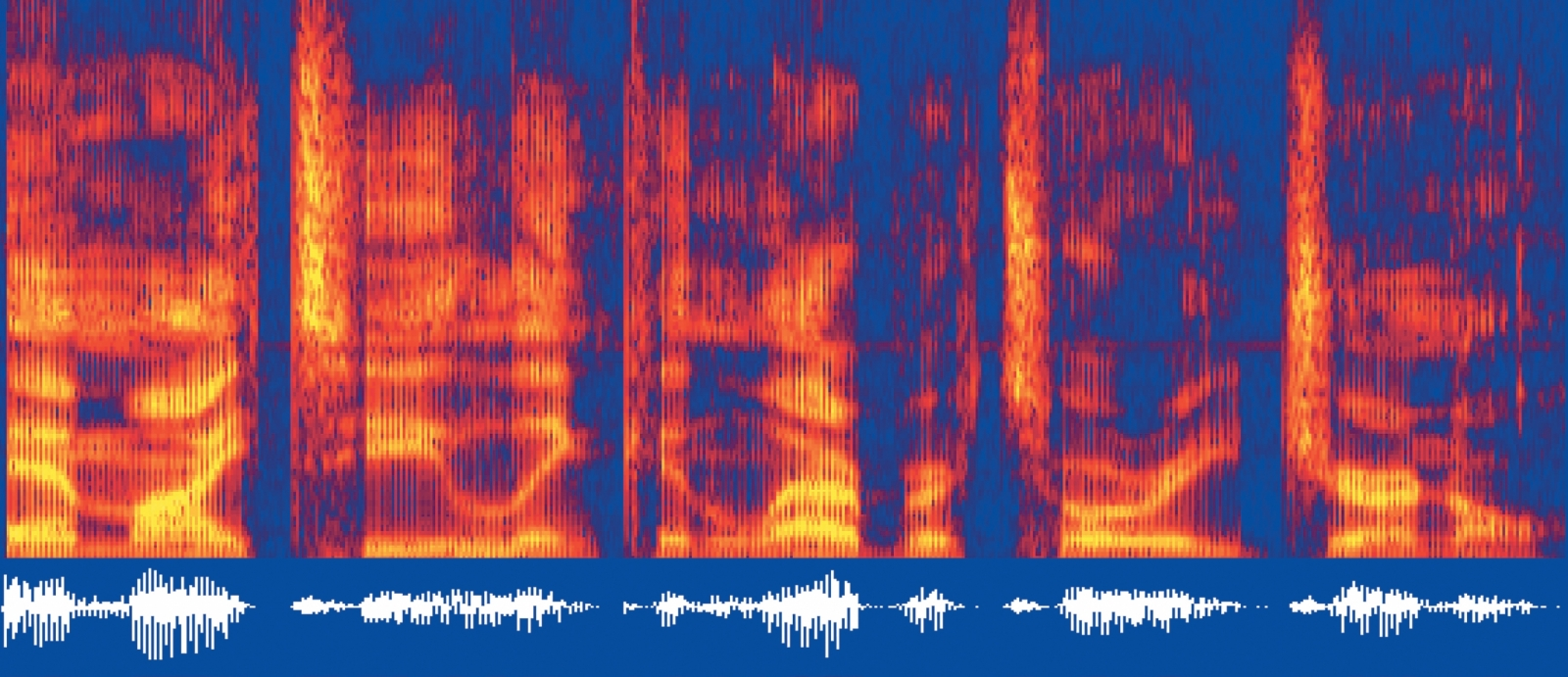 The image shows the underlying time-frequency characteristics of speech that are exploited by automatic recognition systems.