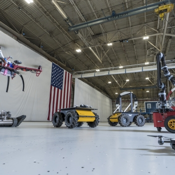 The ASDF accommodates the testing of various autonomous system prototypes, including those that operate on the ground, in the air, and underwater.