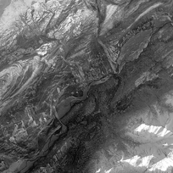 The panchromatic-band image of the town of Sutton, Alaska, was one of the first images made from ALI data during its inaugural scan on 25 November 2000.