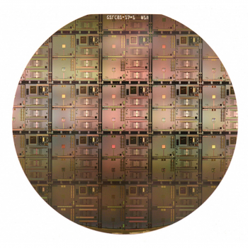 A wafer with integrated superconducting microstrips for NASA X-ray microcalorimeters was fabricated through Lincoln Laboratory's superconducting electronics fabrication process.