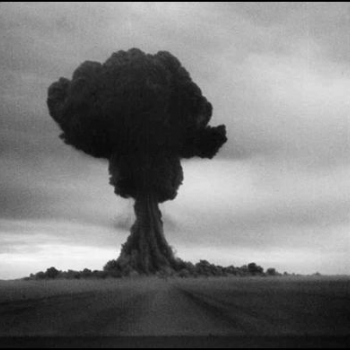 "Soviet Union's ""Joe-1"" atomic test. Photograph courtesy of the Federation of American Scientists."