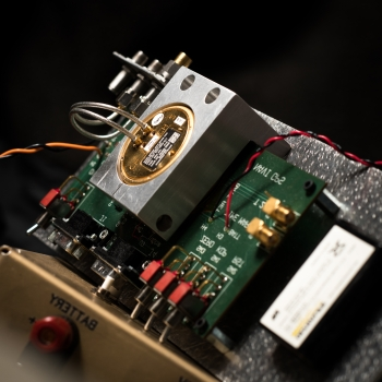 The GPS receiver in this test and evaluation device is typically used on small unmanned aerial vehicles or precision-guided munitions.