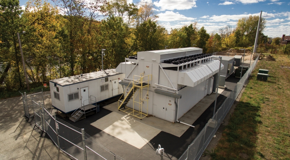 The Lincoln Laboratory supercomputing facility in Holyoke, Massachusetts, is an energy-efficient EcoPod.