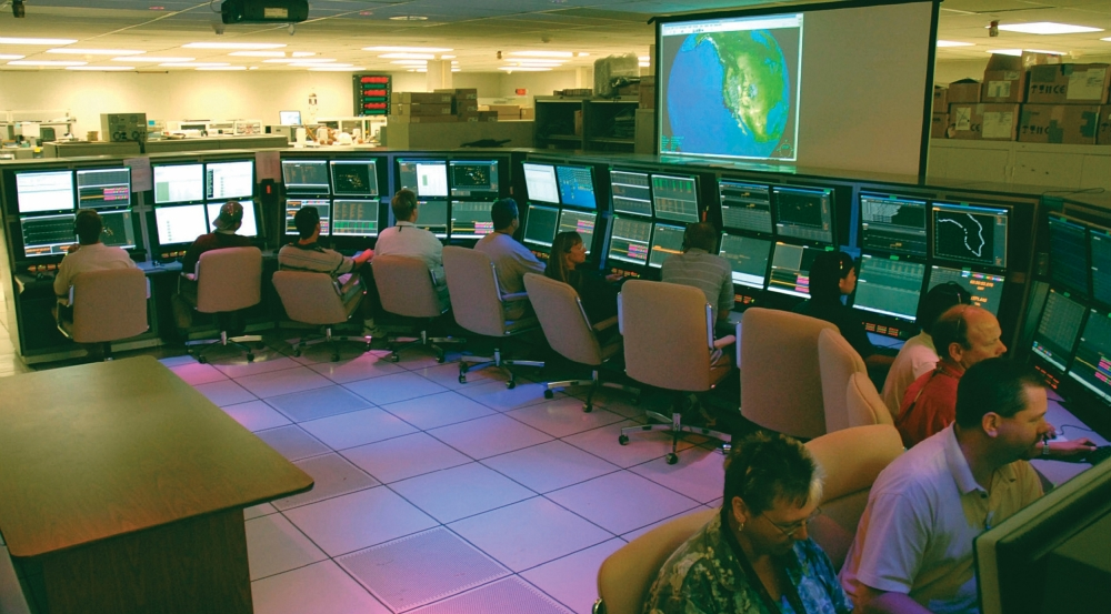 Operators at the Reagan Test Site command-and-control center control the site's sensors, conduct tests, and perform mission tasks in coordination with the primary command-and-control facility in Huntsville, Alabama.