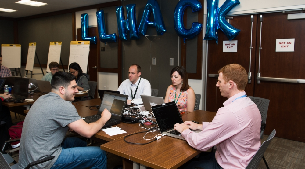 During the two-day hackathon, staff were challenged to quickly train and test machine learning algorithms to detect fake media content.