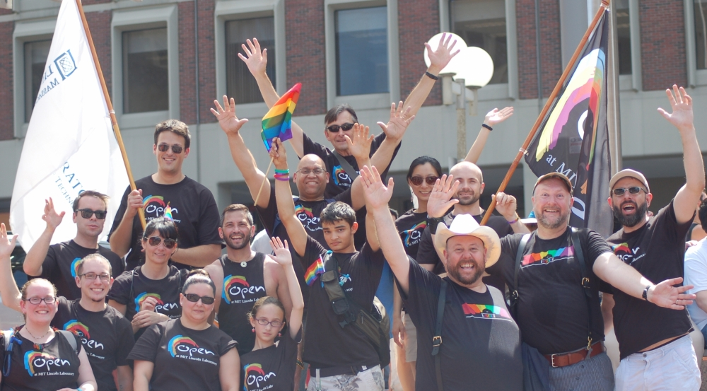 OPEN members and supporters attend the annual Pride Parade in Boston.