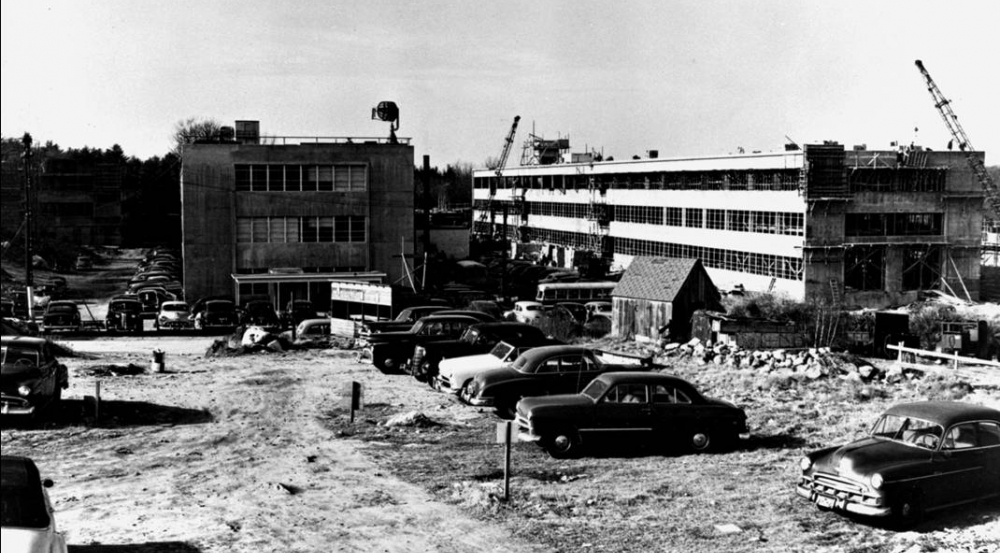 Initial construction of Lincoln Laboratory, October 1952.
