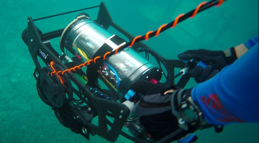 Video of robotic prototype that can map an undersea domain.