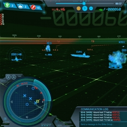 Each scenario in Strike Group Defender is displayed on screen as above. Players select responses to threats from the icons on the right and get alerts on new threats or incoming messages from the log in the lower right. Image courtesy of the researchers