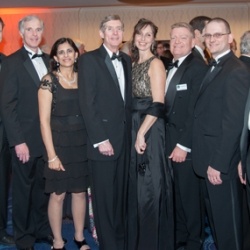 The LLCD team and guests gather at the Washington Hilton in Washington, D.C., during the Robert H. Goddard Memorial Dinner on 13 March.