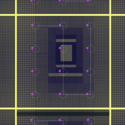 An illustration of electronic oscillator on a chip
