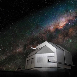 The photo is of the enclosure for the Space Surveillance Telescope. The enclosure was provided by the Australian government.