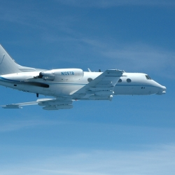 The Airborne Seeker Test Bed is a modified Gulfstream jet.