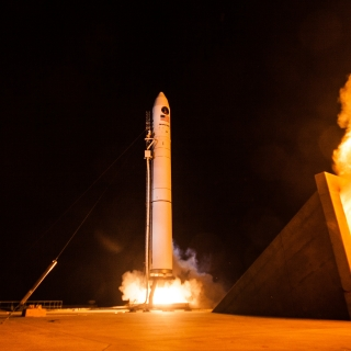 The Minotaur IV lifts off, carrying ORS-5 SensorSat to equatorial orbit. Photo courtesy of Orbital ATK
