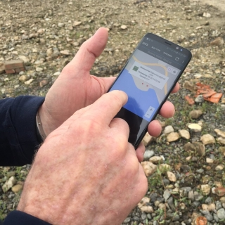 The NICS mobile app allowed users on scene to input real-time information while also monitoring information from commanders or other responders. Photo courtesy of DHS S&T