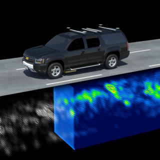 The Localizing Ground-Penetrating Radar (LGPR) uses inherently stable subsurface features and their geolocation to locate the vehicle even in adverse weather conditions.