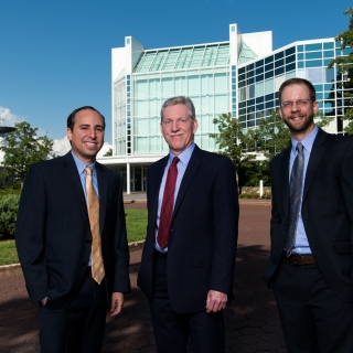 Left to right, Andy Vidan, Gregory Hogan, and Paul Breimyer are the recipients of the 2019 IEEE Innovation in Societal Infrastructure Award for their development of an integrated decision support system for coordinating disaster response activities.