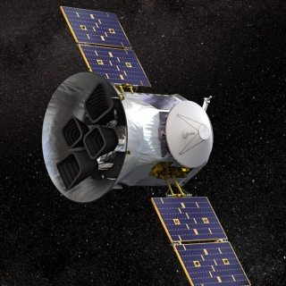 3D Rendering of the Transitioning Exoplanet Survey Satellite (TESS)