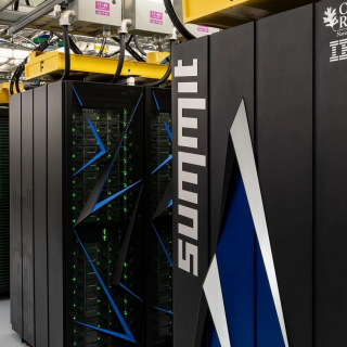 image of a row of supercomputer servers
