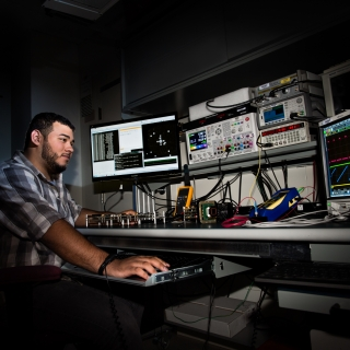 AFCEA intern Darian Rivera spent his summer in our Active Optical Systems Group, modifying firmware in an existing camera to calculate a real-time centroid.