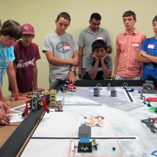 We sponsor robotics programs through the FIRST program. Teams build and program a robot and compete in local and state tournaments.