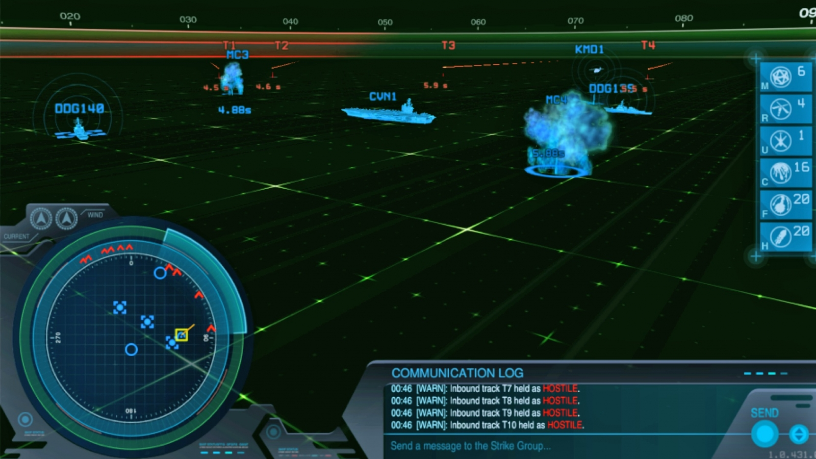 Strike Group Defender immerses users in realistic simulations to help them learn how to defend ships against missile threats in real life.