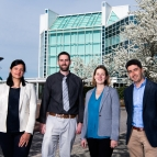 The 2019 Young AFCEA 40 Under 40 award winners from Lincoln Laboratory are, from left to right, Anu Myne, Mark Veillette, Meredith Drennan, and Alexander Stolyarov.